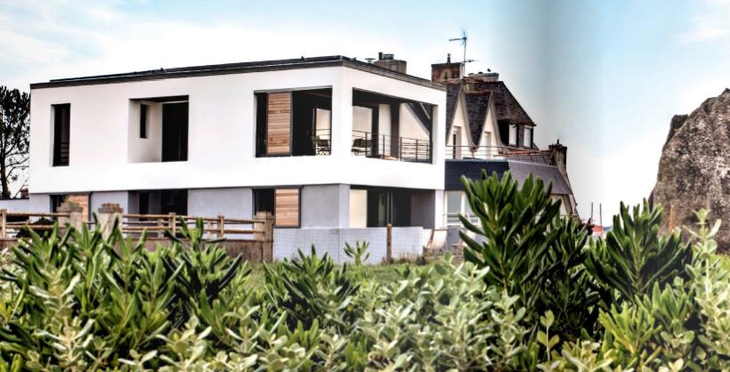 maison d'architecte couleur goéland
