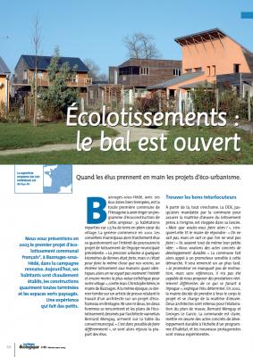 magazine La Maison écologique n°49 - Ecolotissements, le bas est ouvert