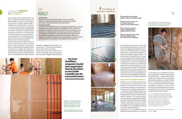 extrait hors série 8 chauffage écologique - plancher mur chauffant