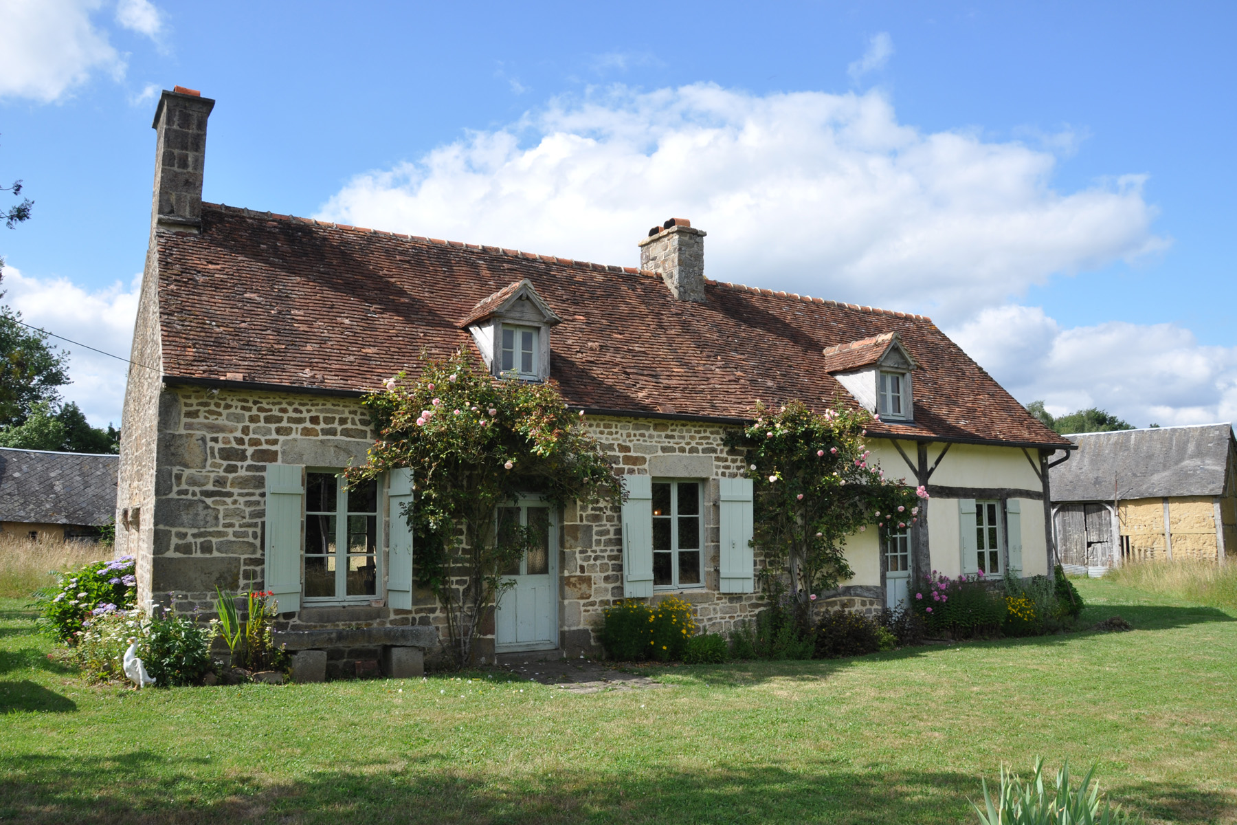 extension d'une maison à colombages