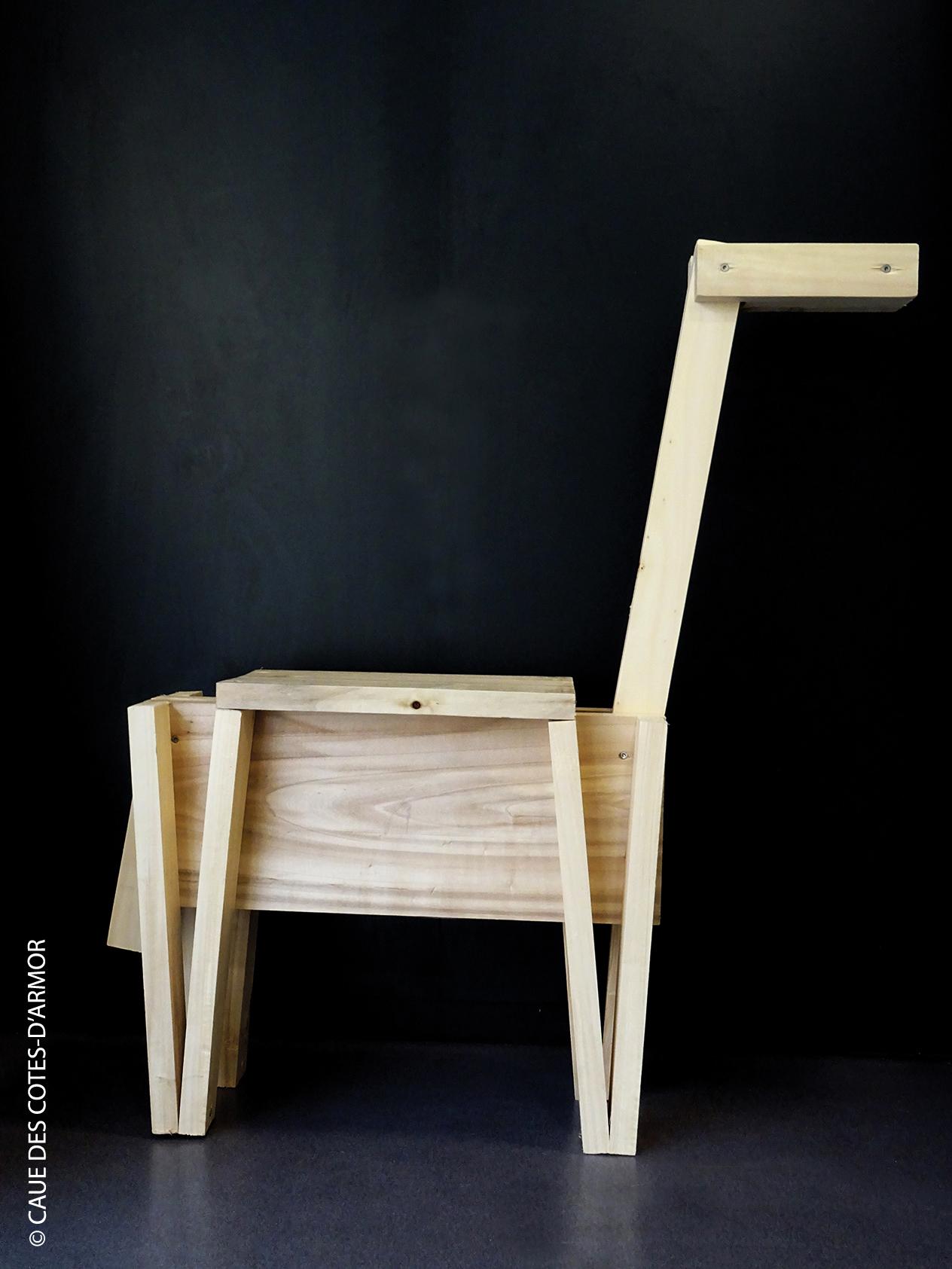 Fabriquer une chaise lama pour enfant