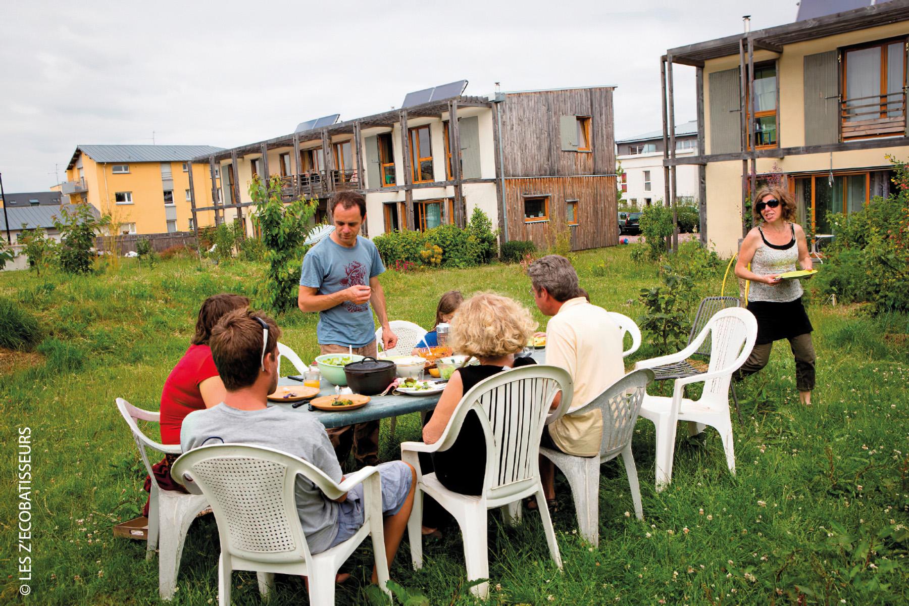 habitat groupé en écoconstruction et autopromotion