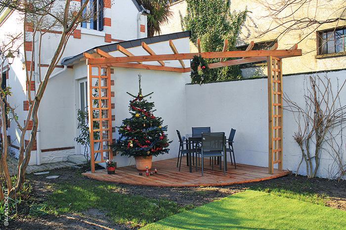Travaux terrasse bois arc de cercle