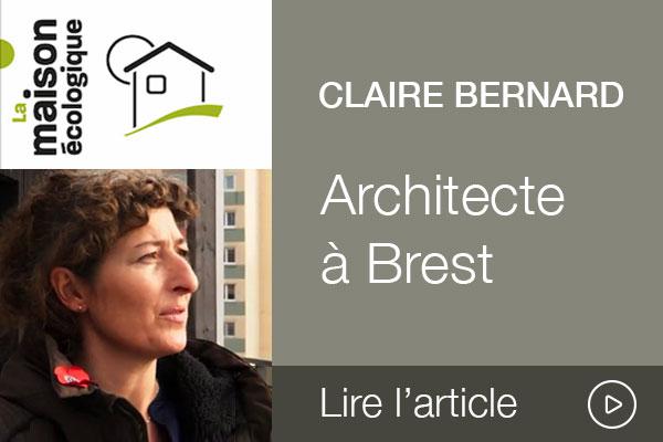 Entretien avec Claire Bernard, architecte à Brest