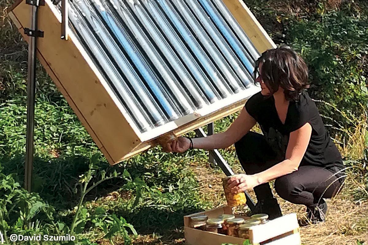 tube solaire et culinaire