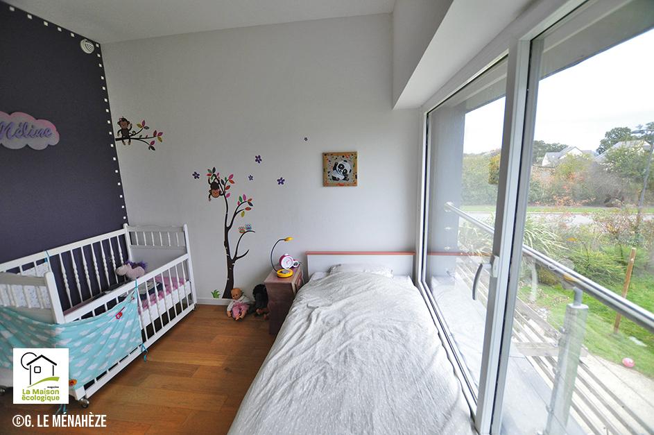 chambre enfants maison paille rénovée